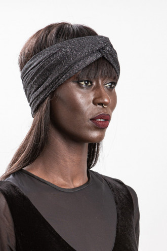 Turban noir brillant