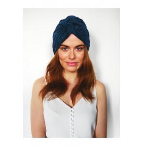 Turban en jersey plissé stretch bleu pétrole